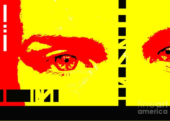 Eyes Greeting Card featuring the photograph Broken by Amanda Barcon
