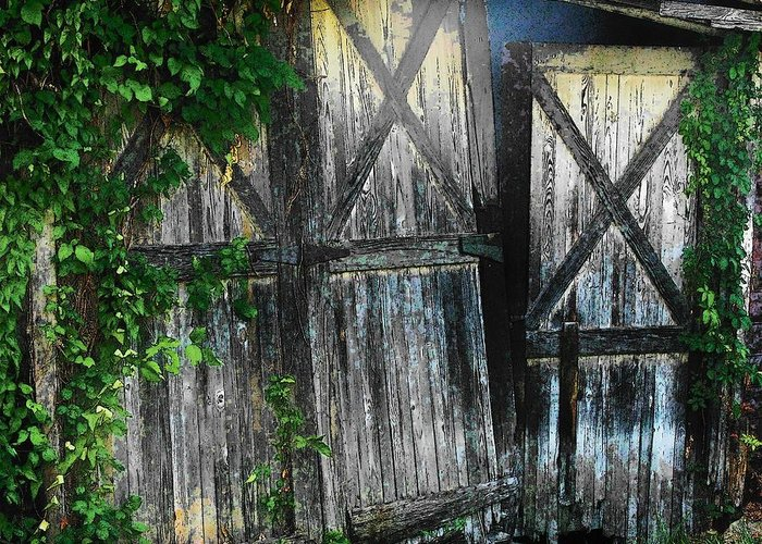Barn Greeting Card featuring the photograph Broken Barn Door by Joyce Kimble Smith