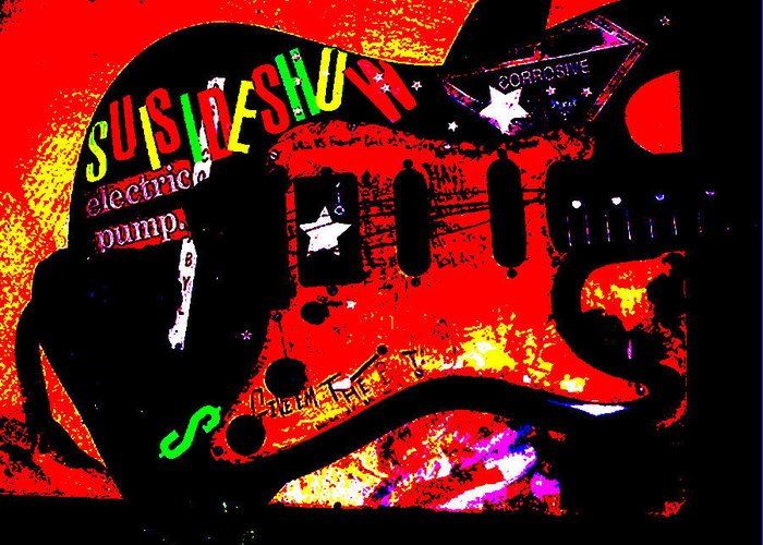 Guitar Greeting Card featuring the photograph Broken Epi by Curt Curt