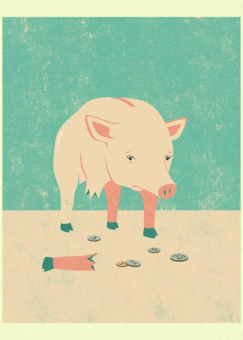 Pig Art Greeting Cards