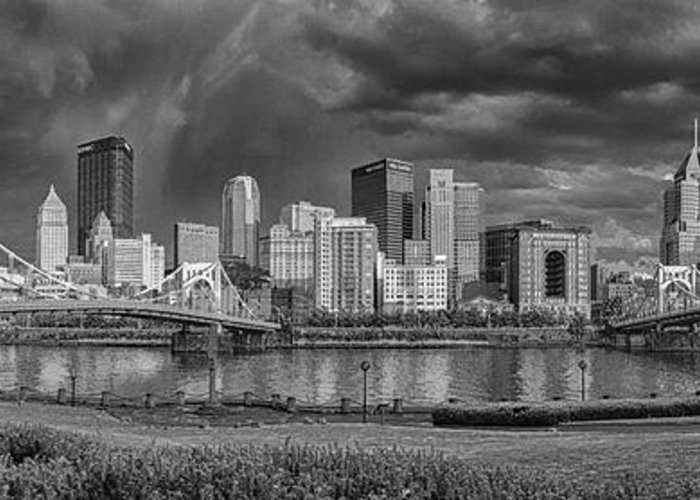 Pittsburgh Greeting Card featuring the photograph Brooding Above The Burgh by Jennifer Grover