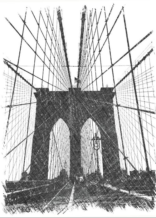 Brooklyn Greeting Card featuring the photograph Brooklyn Bridge by Dick Goodman