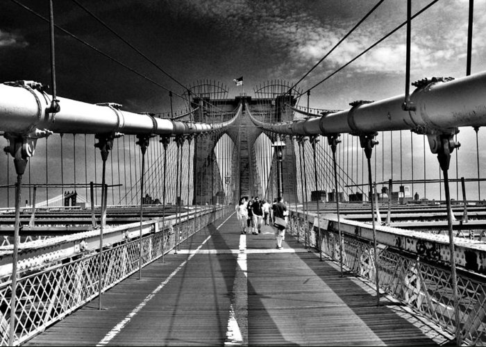 Brooklyn Bridge Greeting Card featuring the photograph Brooklyn Brige by Andrew Dinh