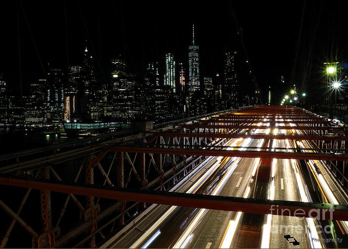 Brooklyn Greeting Card featuring the photograph Brooklyn Lights by Lemaire Thomas