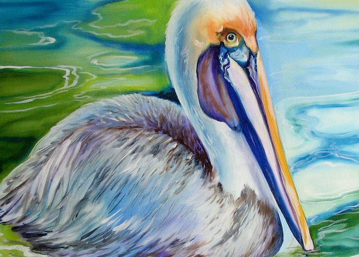 Brown Pelicans Greeting Cards