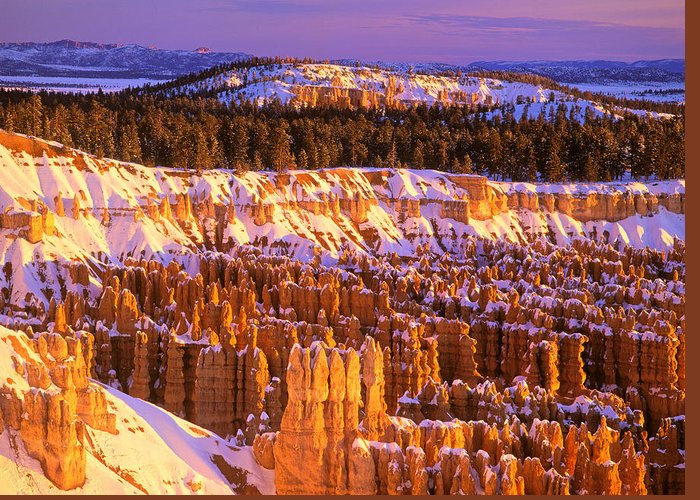America Greeting Card featuring the photograph Bryce Canyon Winter Sunrise by Johan Elzenga