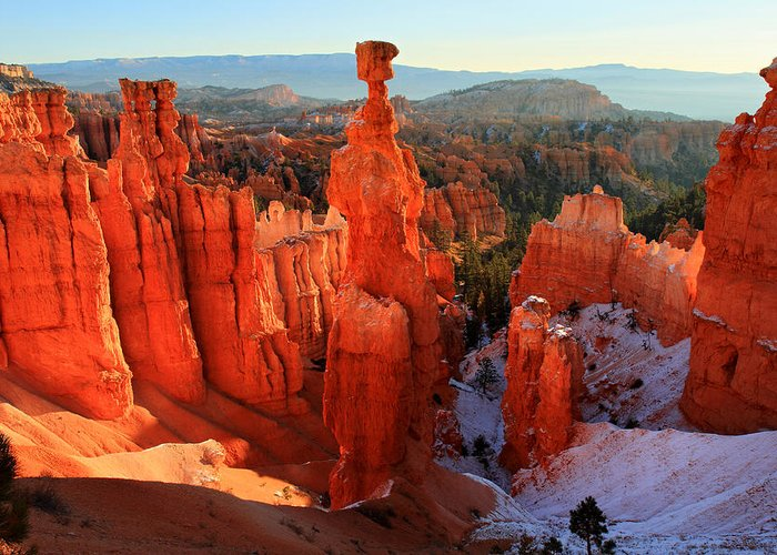 Bryce Greeting Card featuring the photograph Bryce Canyon's Thor's Hammer by Pierre Leclerc Photography