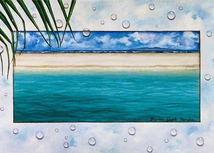 Surreal Painting Greeting Card featuring the painting Bubble Bath by Sharon Ebert