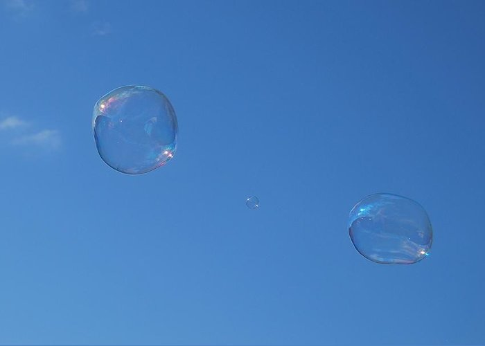 Bubbles Greeting Card featuring the photograph Bubble Forms I by Marilynne Bull