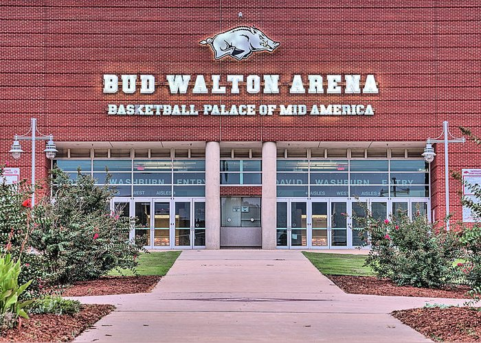 Bud Walton Arena Greeting Cards