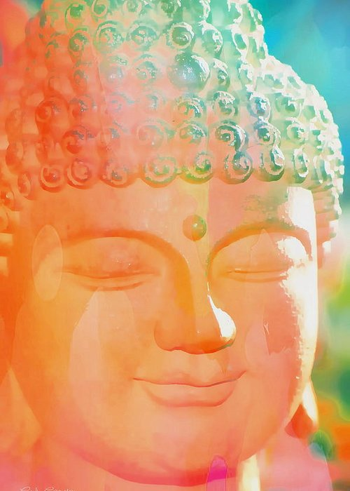 Cindy Greeting Card featuring the photograph Buddah Glow by Cindy Greenstein