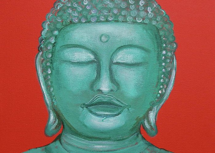 Buddah Greeting Card featuring the painting Buddah I by Sue Wright