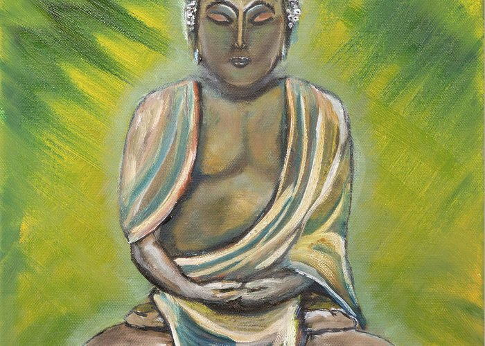 Siddharta Paintings Greeting Cards