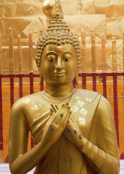 Asia Greeting Card featuring the photograph Buddha Statue by Emily M Wilson