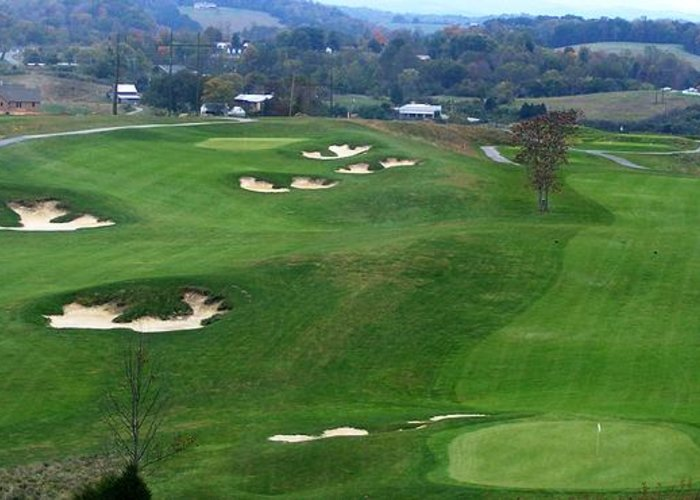 Virginia Greeting Card featuring the photograph Buena Vista Golf Course by Eddie Armstrong