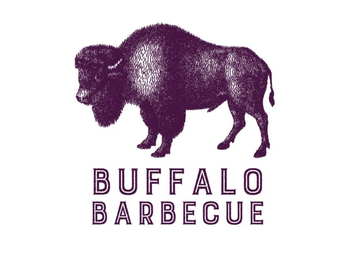 Retro Greeting Card featuring the digital art Buffalo Barbecue by Antique Images