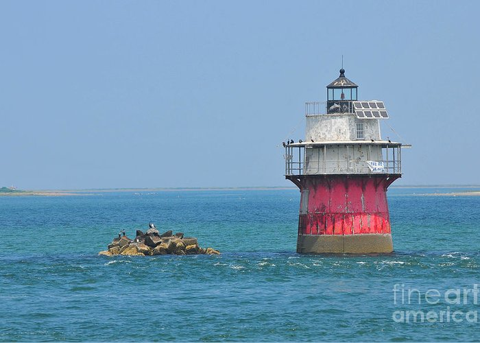 Plymouth Ma Photograph Greeting Card featuring the photograph Bug Light by Catherine Reusch Daley
