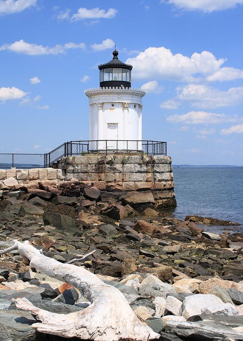 Seascape Greeting Card featuring the photograph Bug Lighthouse by Doug Mills