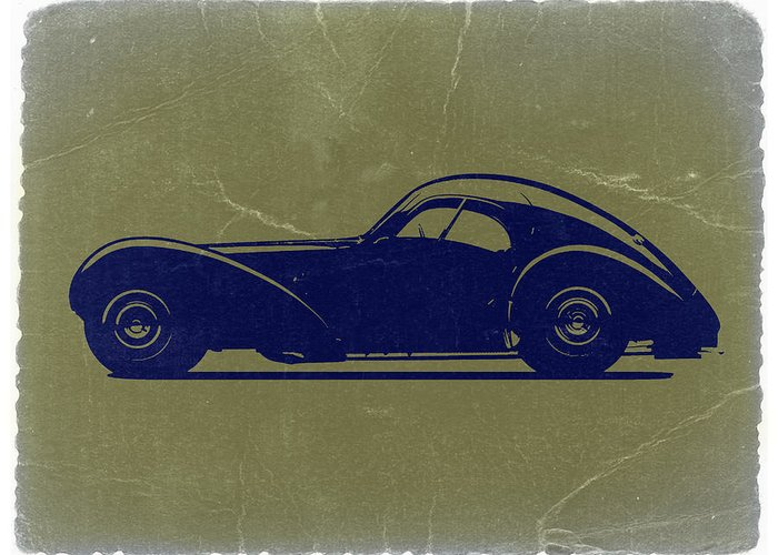 Greeting Card featuring the photograph Bugatti 57 S Atlantic by Naxart Studio