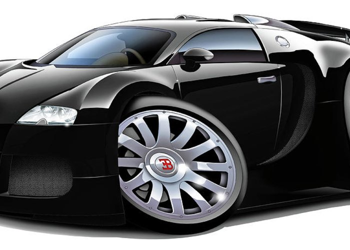 bugatti veyron black car greeting card for salemaddmax