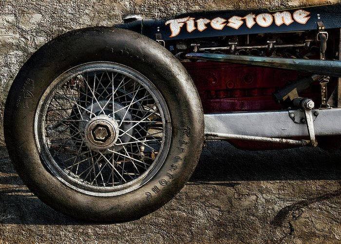 Buick Greeting Card featuring the digital art Buick Shafer 8 by Peter Chilelli