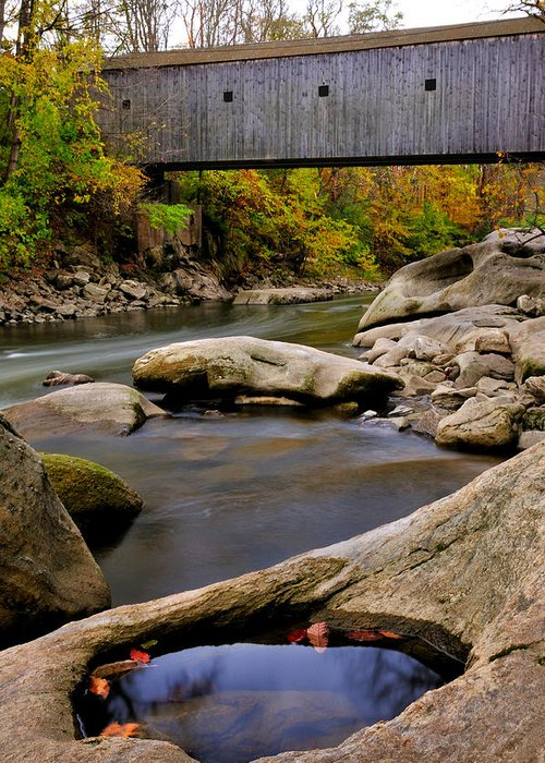 Connecticut Covered Bridge Greeting Cards