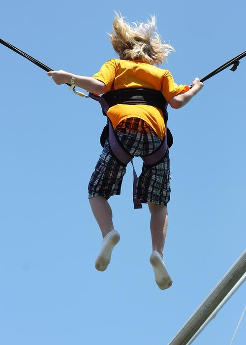 Bungee Jumping Greeting Card featuring the photograph Bungee Fun II by Hans English
