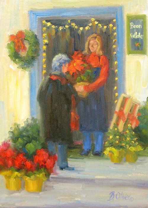 Italy Greeting Card featuring the painting Buon Natale by Bunny Oliver