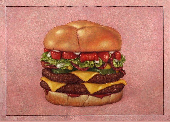 Hamburger Greeting Cards