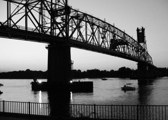 Bridges Greeting Card featuring the photograph Burlington Bristol Bridge by D R TeesT