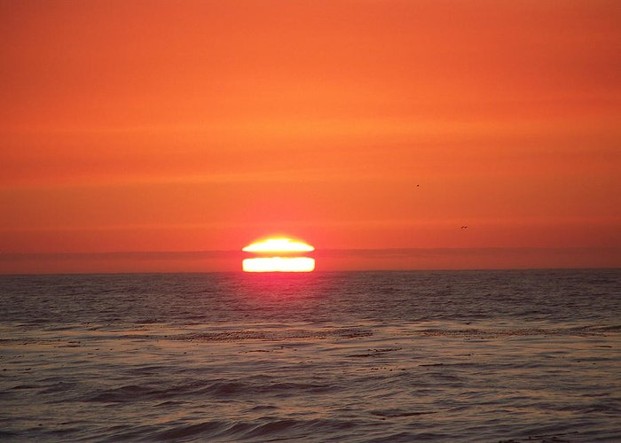 Sunsets Greeting Card featuring the photograph Burning Breath by Maggie Cruser