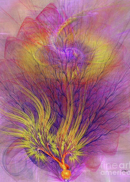 Burning Bush Greeting Card featuring the digital art Burning Bush by John Beck