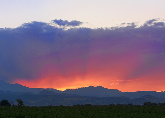 Sunsets Greeting Card featuring the photograph Burning Rays Of Sunset by James BO Insogna