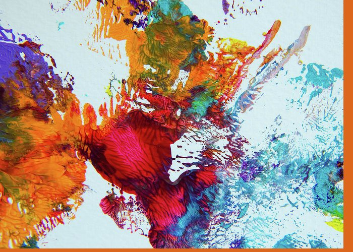 Art Greeting Card featuring the painting Burst Of Consciousness by Deb Breton