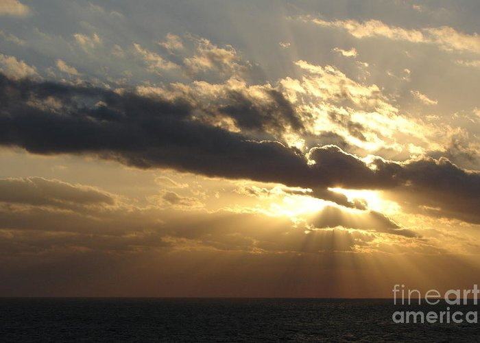 Sunrise Greeting Card featuring the photograph Burst by Priscilla Richardson