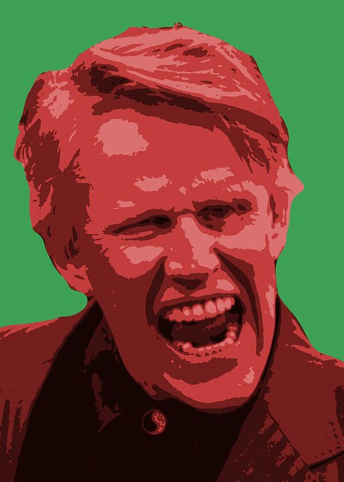 Portrait Greeting Card featuring the digital art Busey by James Dahlen