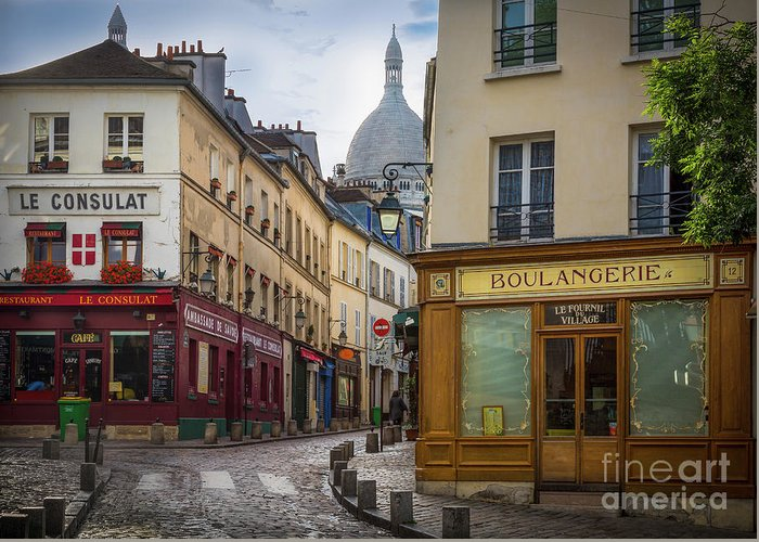 Europa Greeting Card featuring the photograph Butte De Montmartre by Inge Johnsson