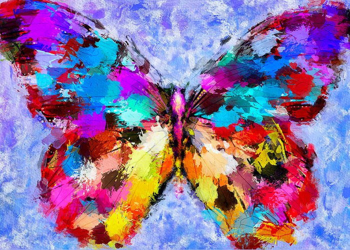 Butterfly Greeting Card featuring the digital art Butterfly 2 by Yury Malkov