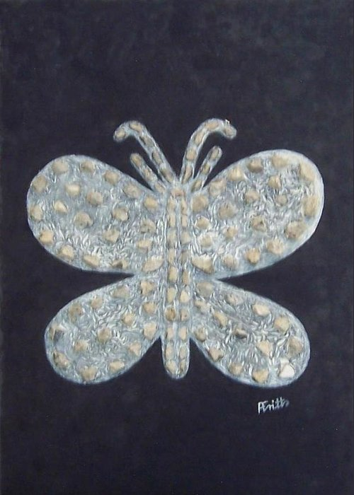 Berlin Wall Greeting Card featuring the painting Butterfly by Anneliese Fritts