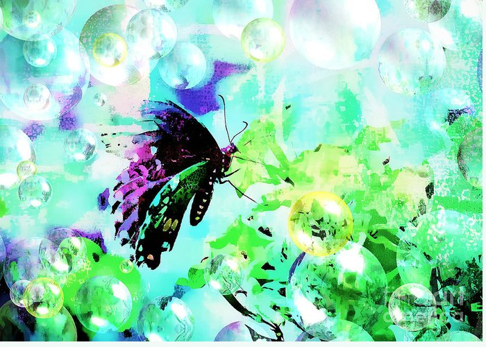 Butterfly Greeting Card featuring the photograph Butterfly Fantasty by Tina LeCour