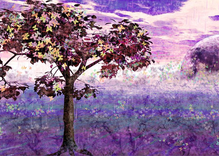 Trees Greeting Card featuring the digital art Butterfly Tree by Margaret Hormann Bfa