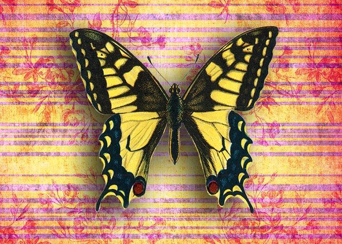 Greeting Card featuring the digital art Butterfly1 by Ramneek Narang