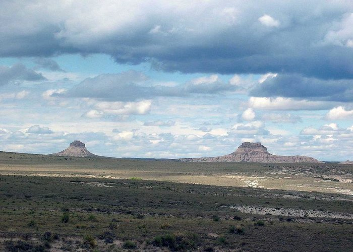 Big Sky Greeting Card featuring the photograph Buttes by Margaret Fortunato