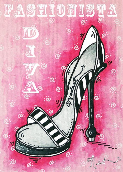Hot Pink Heels Greeting Cards