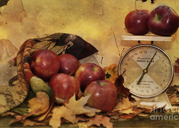 Autumn Greeting Card featuring the photograph By The Pound by Kathy Jennings