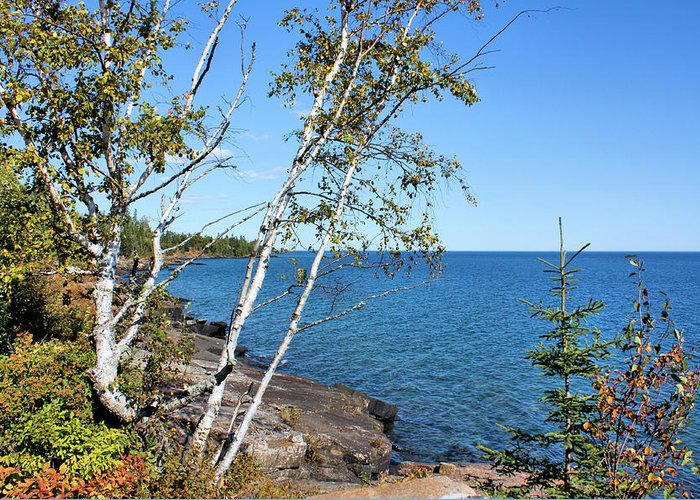 Lake Superior Greeting Card featuring the photograph By The Shores Of Gitche Gumee by Kristin Elmquist