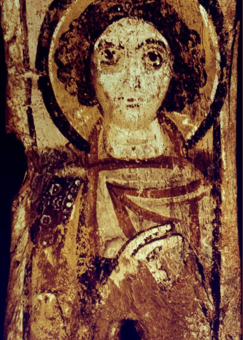 6th Century Greeting Card featuring the photograph Byzantine Icon by Granger