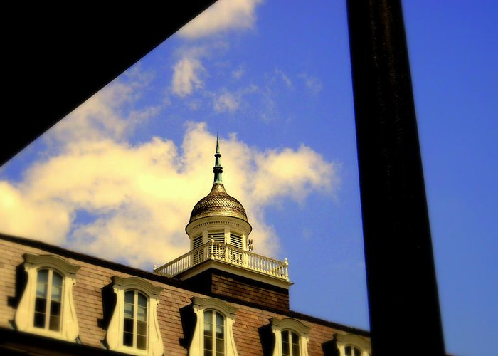 Greeting Card featuring the photograph Cabildo Cupola Jackson Square by Ted Hebbler
