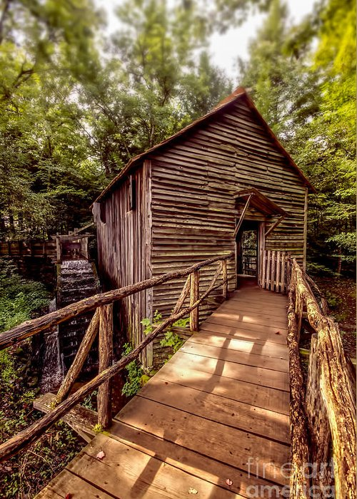 Mill Greeting Card featuring the photograph Cable Grist Mill by Rick Bennett Photography
