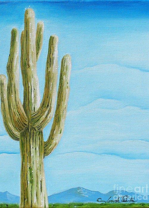 Cactus Jack Greeting Card featuring the painting Cactus Jack by Joseph Palotas